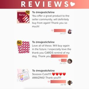 CUSTOMER REVIEWS💕